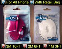 оптовых flat noodle cable-3m 10ft 2m 6ft 1m 3FT Лапша Плоский Micro USB-кабель Кабели Кабель Шнуры USB зарядное устройство V8 зарядки Линия для Android Samsung Все телефона 4/5/6