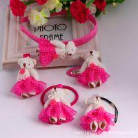 alexandrite pendants - Xayakids Hairpin South Korea Korean jewelry bear children BB clip hoop hair headdress Fashion Pendant Baby Headband