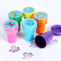Wholesale Ocean animals stamp Cartoon stamper Kids toys Novelty toy Promotion toy Fantastic toy Birthday gift design x3 cm