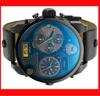 Wholesale DZ7311 Men s Watches like luxury brand quartz watch fashion watches big dial double movement screen belt watches DZ