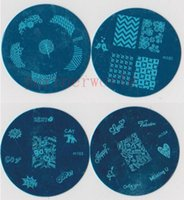 Wholesale 10000Pcs Bule m Series Image Plate Mix Design cm Stamping Nail Art Plate Designs Template DHl