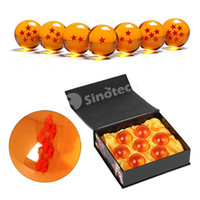 Wholesale Dragon Ball Balls DragonBall Stars Z Crystal Balls Set of CM Gifts Toys With Retail Box Animation Cartoon Free DHL Factory Price
