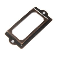 Wholesale Antique Steel Label Holder antique business card holder x with screws In Stock Price