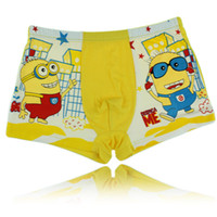 Wholesale calcinha infantil new brand cute Despicable Me Cartoon Minion high quality panties for kids underwear cuecas boxer infantil