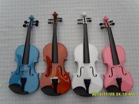 Wholesale Solid wood violin multicolour child adult full set