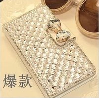 galaxy note 3 phone - Luxury Bling Rhinestone Diamond for galaxy Note Note S4 S5 S3 note2 note3 iphone iphone5 s s wallet flip phone leather case