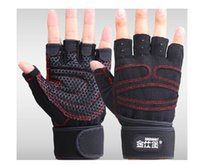 Wholesale Fitness Gloves Protect Wrist Anti skid Weightlifting Workout Multifunction Exercise Gloves