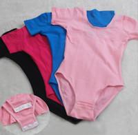 Wholesale Girls ballet clothing stage wear Soft Comfortable kids dance clothes cotton vest leotard dress solid solid colors