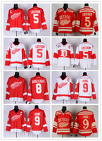 Wholesale Detroit Cheap Hockey Jerseys Red Wings Lidstrom Abdelkader Howe jerseys red white drop shipping freeshipping