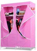 Wholesale new children s single reinforcement simple wardrobe simple wardrobe reinforcement oversized folding ward