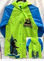 Wholesale Girls Boys Teenage Mutant Turtle Raincoat Kids Rain Cape Cartoon Pattern Kids Child PVC Hooded Rain Coat Rainwear