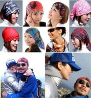 Wholesale Bandana handkerchief outdoor cycling head scarf Magic Seamless Multi Functional Kerchief hip hop ultraviolet proof absorbent