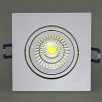 Wholesale Cob beans gall led ceiling venture light double head Grille lamp W warm cool white Grille downlight spot a full set of lamp