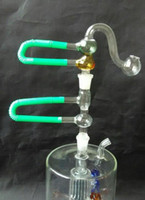 ash pot - new Double bubble glass filter pot glass filter ash accessories Hookah glass glass bong accessories