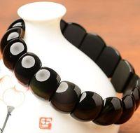 bian stone - 2016 new Health Energy Men and women gift Bracelet black Si bian needle stone