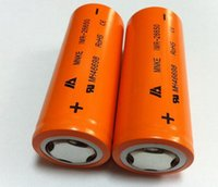 Wholesale Authentic li ion battery MNKE IMR IMR26650 mAh v A rechargeable lithium battery vapor battery
