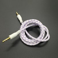 Wholesale 3 mm Audio AUX Cable Male to Male Stereo Auxiliary Cord Extention for iphone S Samsung S6 Edge plus speaker Computer ipad