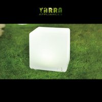 Wholesale 2x LED Solar Outdoor Light Weather Proof Garden Cube Ball Sit Color Furniture