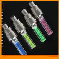 Wholesale Luces Led Bicicleta Offer Rushed for Bicycle Bicicletas Led Flash Light Bike Wheel Lights Tyre Valve Cap Motorcycle Car Aluminium Material