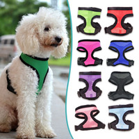 air soft vests - Hot Sale Best Selling Nylon Mesh Vest Harness for Dogs Puppy Cats Pets Soft Air Small Dog Harness Arnes Perro Colors Sizes XS XL