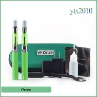 Wholesale Ce5 Vaporizer Kit - Ce5 double starter kit with ego t battery Electronic Cigarettes 1.6ml no wick Ce5 Vaporizer Ego t Double Zipper Case E cigarette