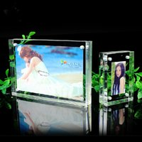 acrylic photo stands - 3 x5 quot Free standing Acrylic Prexiglass Photo Frames With Magnetic Transparent Picture Frame to Display Your Favorate Picture PF003