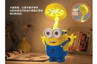 Wholesale Creative cartoon Despicable Me USB Charging Studying Desk Lamps charging lamp piggy Banks and learning the desk lamp for children