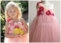 beautiful dress - Beautiful Girl TUTU Dress Singer Shoulder Flower Layer Gauze Performing Dress T