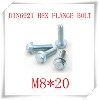 steel flange - 100pcs of each M5 M6 M6 M8 DIN6921 Carbon Steel With Zinc Flange Hex Bolts