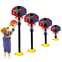 Wholesale Kids Sports Portable Basketball Toy Set with Stand Ball Pump Toddler Baby