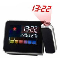 Cheap New Arrival Projection Alarm Clock With Fashion Digital Weather Thermometer Snooze Function Station LED Light #L014165