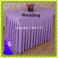 Wholesale new arrival rectangle polyester table skirt for event