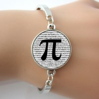 art teacher gifts - PI Bracelet Math Jewelry Teachers Bangle Science Jewelry Mathematics Black and White Art Pendant Vintage Bracelet Hot GIft