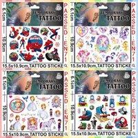 15.5cmx10.9cm niños Tatuajes Cuerpo Tatuajes temporales Gran Hero6 Baymax Cartoon Minecraft congelados Minions temporales Tatto Stickers 9000pcs