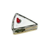 Wholesale White enamel yummy sandwich girls Eueopean bead metal charm ladies bracelet with big hole Pandora Chamilia Compatible