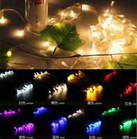 La venta!! 3XAA Batería 2m 20 LED Cadena de Mini Luces de Hadas de Energía de la Batería Operado Blanco/Caliente white/Blue/Red/Yellow/Green/Pink/Purple/multi-color