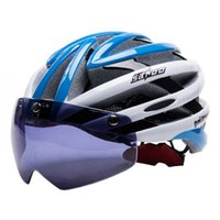 Wholesale SAHOO New Bicycle Cycling Helmet EPS PC Material Ultralight Mountain Bike Helmet Air Vents With UV400 Goggles SIZE cm