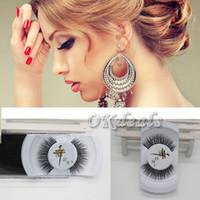 Wholesale Pair of Real Mink Natural Thick Long False Eyelashes Fake Eye Lashes Voluminous Makeup Extension