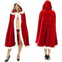 apricot green tea - Christmas Burgundy Red Velvet Winter Faux Fur Edge Wedding Cloak Shawl Wrap Cape With Hooded Tea Length Custom Bridal Coat Poncho
