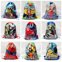 school bags - Star Wars Backpacks The avengers backpacks bags non woven drawstring bags children school backpacks cartoon kids bags Y263