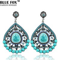 Wholesale 2014 Fashion Hot Elegant Atmosphere Classical Style Rhinestone Resin Droplets Beads Drop Earrings for Women Dangle Big earring