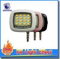 Wholesale Selfie Stick With Flash Enhancing Pocket Spotlight Lamp Mobile Phone LED Video Photo Flash Fill Llight Photographic Lighting
