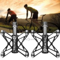 Wholesale 2015 Kactus KTPD T Bike MTB BMX Flat Ultralight Bearings Bicycle Pedals Magnesium CNC Titanium Axle Footrest Bike Pedals