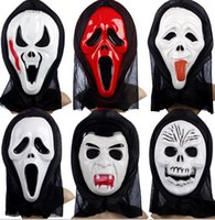 Wholesale Death comes Single side full face mask Scream Grimace skull Mask Halloween Party Mask festival supplies