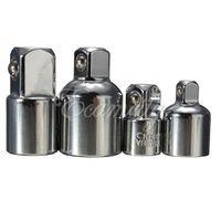 Cheap 4Pcs set New Ratchet Socket Reducers Adaptors Converter 1 2inch 3 8inch 1 4inch Set Garage DIY Universal Joint Impact Adapter order<$18no tr