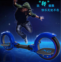 Wholesale X8 Skate Cycle X skate Cycle Fire Two Wheel Scooter Roller X8 Skateboard for Adult Scooter Wind Fire Wheels Colors to choose