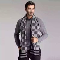 knitted cashmere scarf - Men New Autumn and winter Cashmere knit scarf Top Quality fashion Thick Scarves Size cm cm