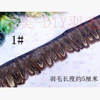 Wholesale Natural pheasant Feathers Lace cloth Peplum cm choices mix order