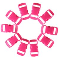Wholesale 10pcs multicolor mm Shackle Contoured Curved Side Release Plastic Buckle for Paracord Bracelet