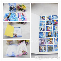 Wholesale Frozen Notebook Student Writting Note book with stickers Frozen Elsa Anna Book Student Notepad color pages School Supplies girls gift FZ53